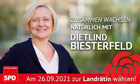 Dietlind Biesterfeld - Unsere Kandidatin zur Landratswahl 2021